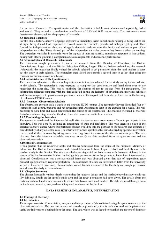Domestic violence research paper