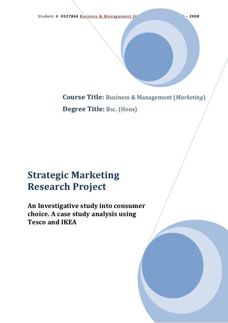 Student #: 0527866 Business & Management (Hons) Marketing Brunel – 2008             Course Title: Business & Management (M...