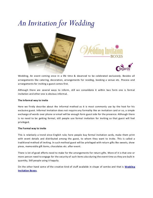 An invitation for wedding an invitation for weddingwedding an event coming once in a life time deserved to stopboris Images