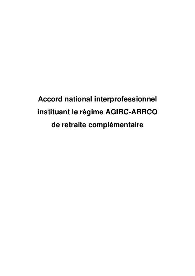 Ani Regime Agirc Arrco Du 17 Novembre 2017