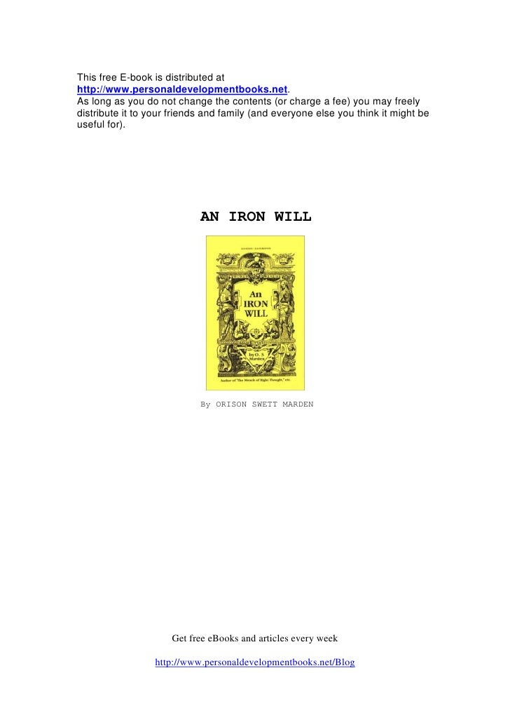 This free E-book is distributed at http://www.personaldevelopmentbooks.net. As long as you do not change the contents (or ...