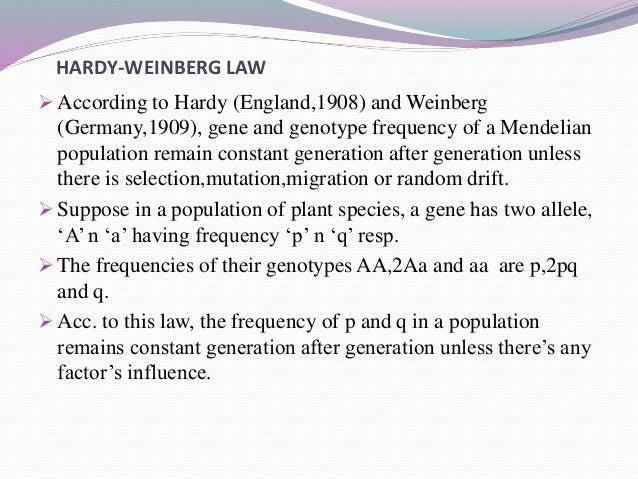 hardy weinberg law explanation