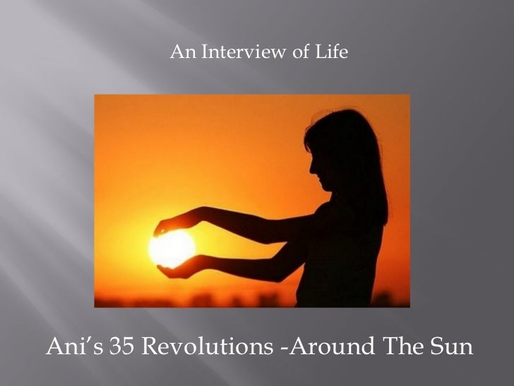 An Interview of LifeAni's 35 Revolutions -Around The Sun