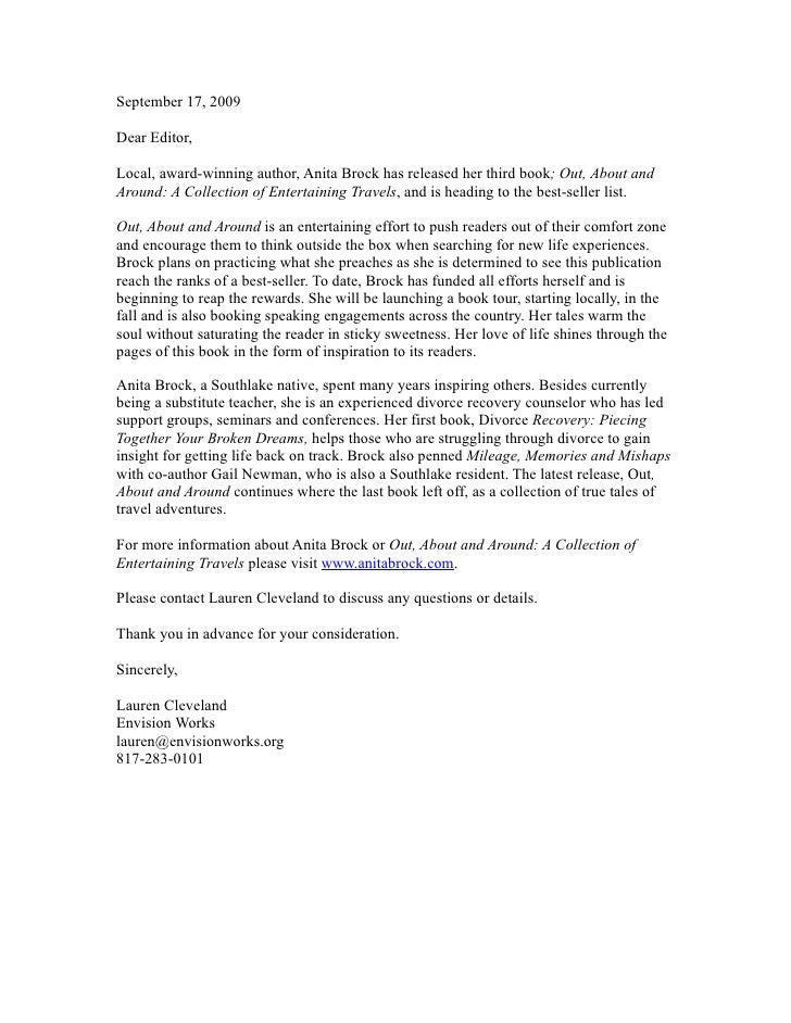 Anita brock pitch letter