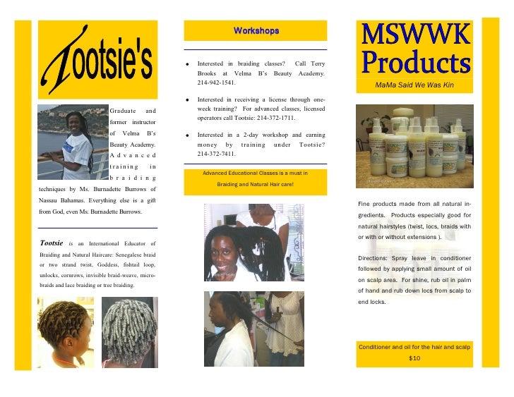 Brochure For A Hair Salon