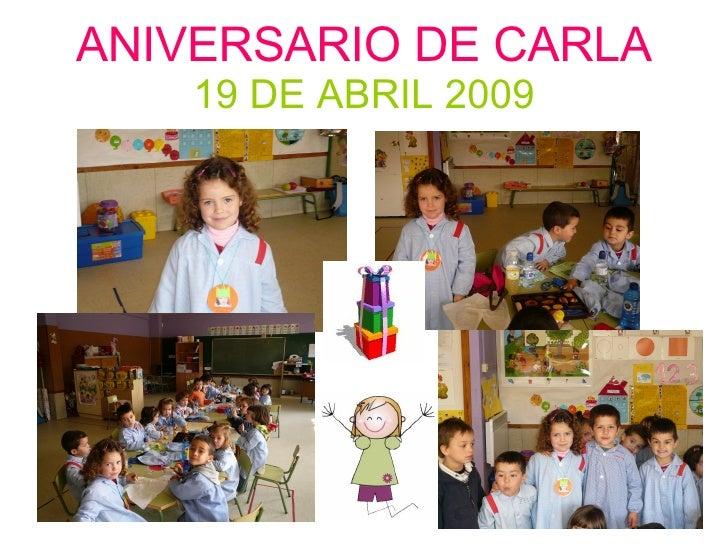ANIVERSARIO DE CARLA 19 DE ABRIL 2009
