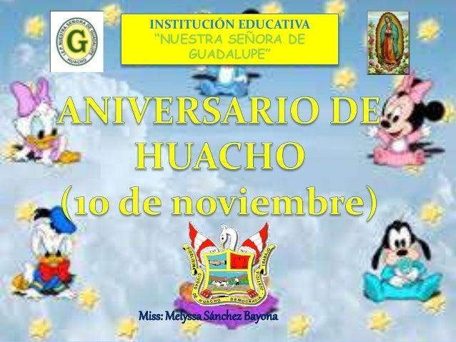 """INSTITUCIÓN EDUCATIVA  """"NUESTRA SEÑORA DE  GUADALUPE""""  Miss: Melyssa Sánchez Bayona"""