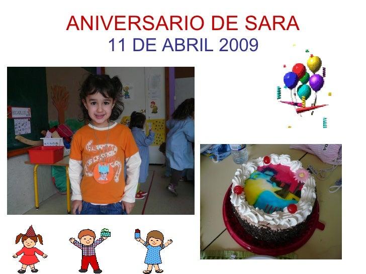ANIVERSARIO DE SARA 11 DE ABRIL 2009