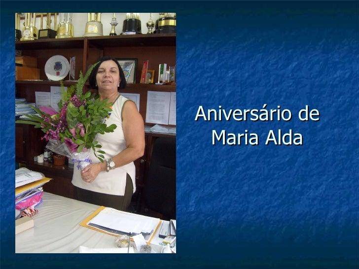 Aniversário de Maria Alda