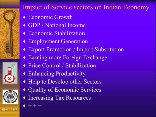 Impact Of Service Sectors On Indian Economy