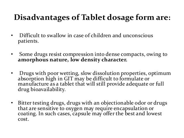 Validation of solid oral dosage form, tablet 1.