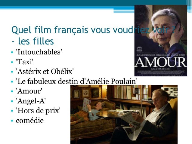• 'Intouchables' • 'Taxi' • 'Astérix et Obélix' • 'Le fabuleux destin d'Amélie Poulain' • 'Amour' • 'Angel-A' • 'Hors de p...