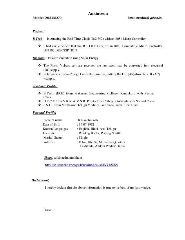 Ankineedu Resume