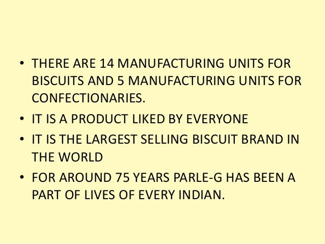 marketing parle g As per the stats the market of biscuits in india is rs 9,000 - crore (rs 90-billion) out of all the players in the biscuits, parle-g holds the maximum percentage of the market with 35% with annual turnover of about 2,000-crores with some series of upcoming biscuits brands parle-g has seen some .