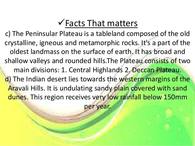 Facts That Matters e)The coastal Plain extended in the form of a strip along the Bay of Bengal on the east and the Arabia...