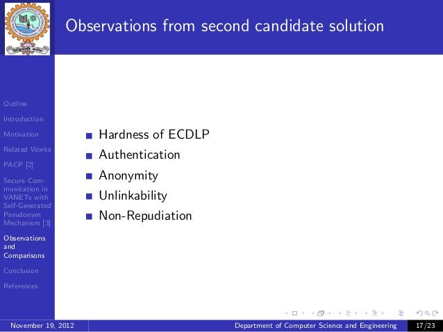 Observations from second candidate solutionOutlineIntroductionMotivation            Hardness of ECDLPRelated Works        ...
