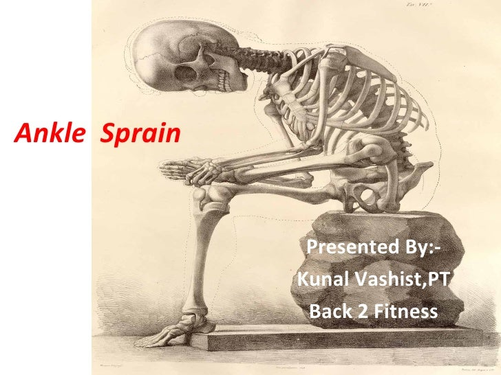 Ankle Sprain                Presented By:-               Kunal Vashist,PT                Back 2 Fitness