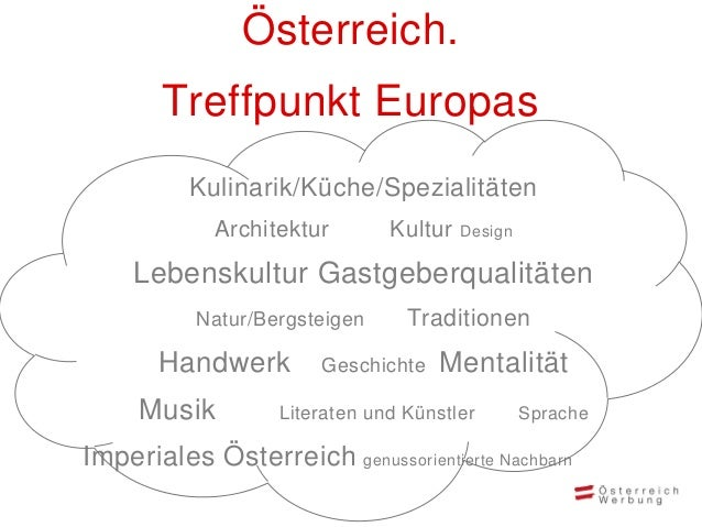 • Kommunikation Ihrer Themen- schwerpunkte sowie unkomplizierter Zugang zu Ihren buchbaren Angeboten auf www.austria.info ...