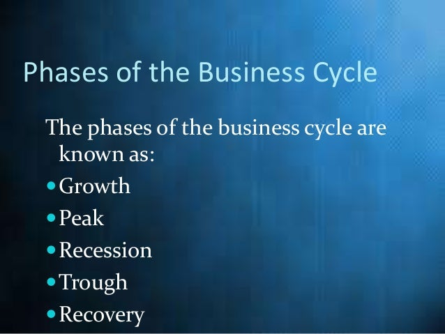 What are the four stages of the economic cycle?