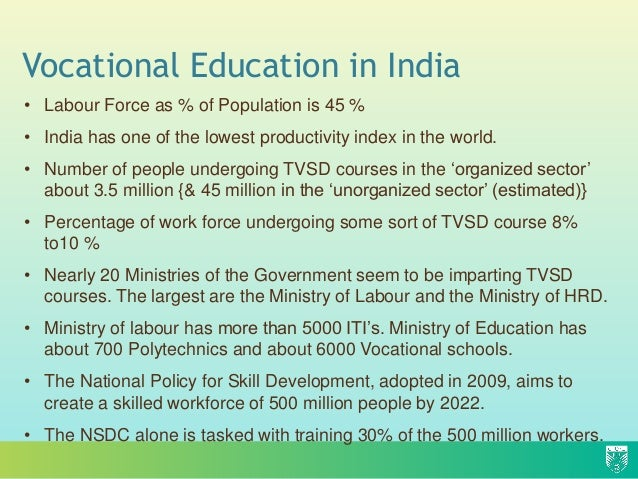 essay on vocational education in india