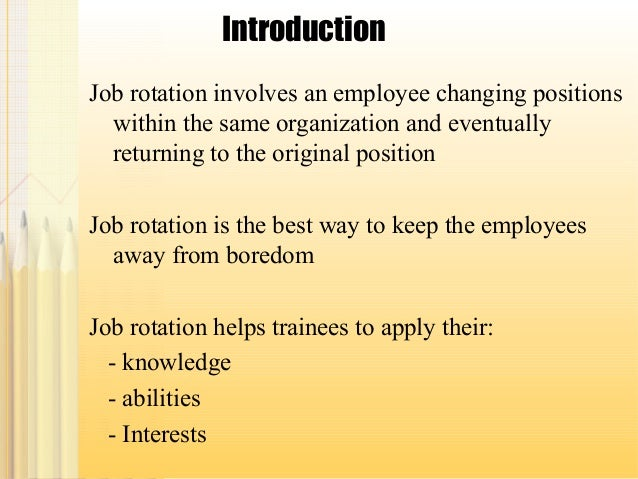 Example of job rotation