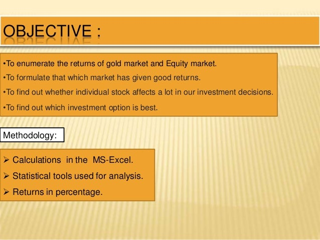 relationship between gold and stock market