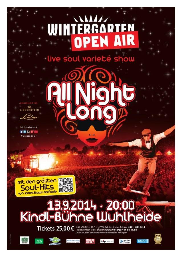 www.apunktmpunkt.de  live soul varieté show  p rä s e n t i e r t v o n  b i t . l y / wigaweb  # wigaopenair  mit den grö...