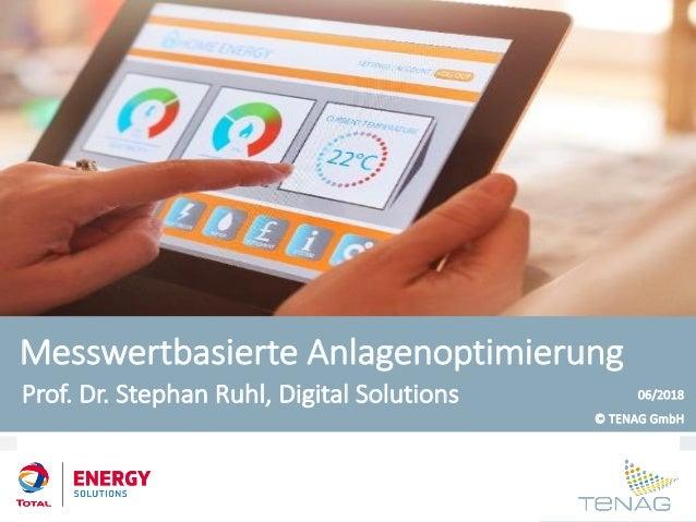 www.tenag.de Messwertbasierte Anlagenoptimierung Prof. Dr. Stephan Ruhl, Digital Solutions 06/2018 © TENAG GmbH