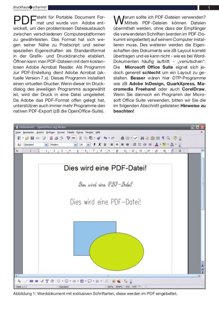 PDF          steht für Portable Document For-             mat und wurde von Adobe ent-wickelt, um den problemlosen Dateiau...