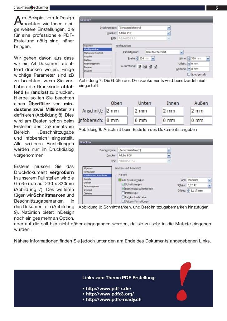 A   m Beispiel von InDesign    möchten wir Ihnen eini-ge weitere Einstellungen, diefür eine professionelle PDF-Erstellung ...