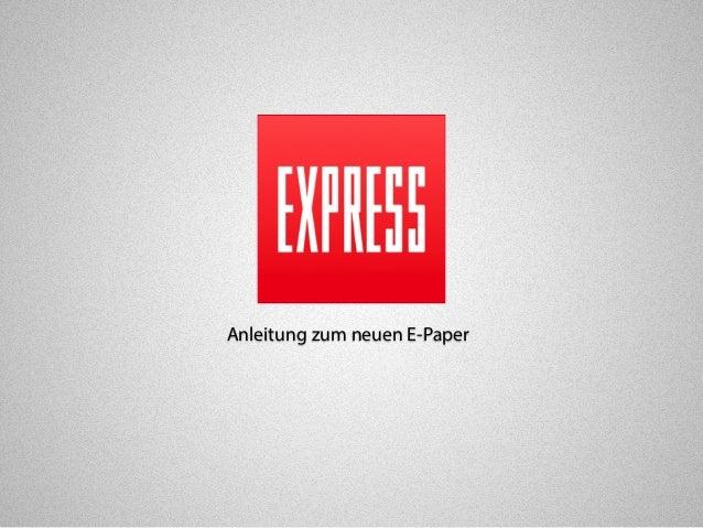 Anleitung zum neuen E-Paper