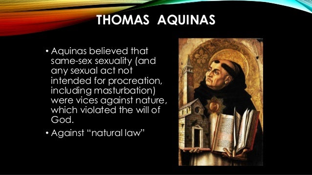Thomas aquinas on masturbation