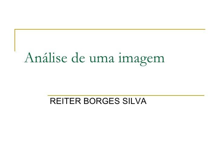 Análise de uma imagem REITER BORGES SILVA