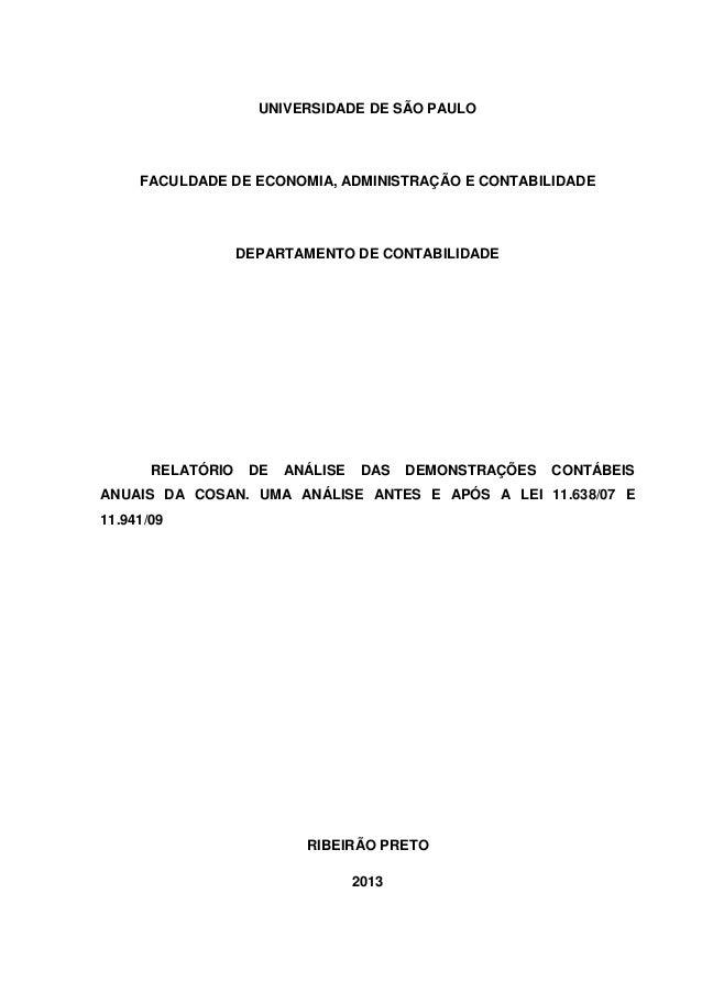 1                     UNIVERSIDADE DE SÃO PAULO     FACULDADE DE ECONOMIA, ADMINISTRAÇÃO E CONTABILIDADE                  ...