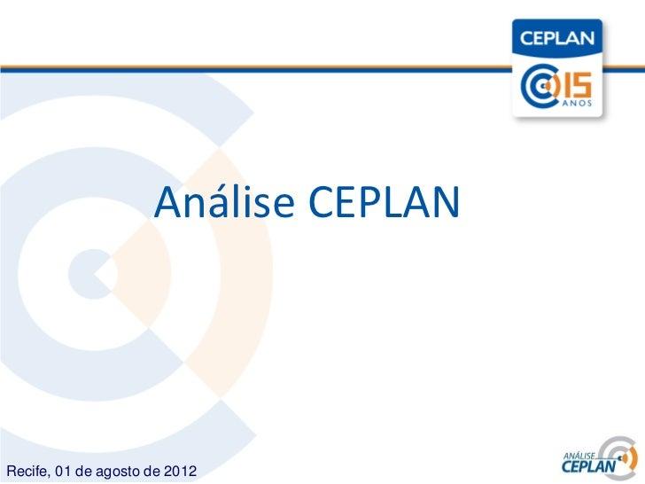 Título                     Análise CEPLANRecife, 01 de agosto de 2012