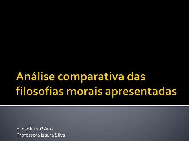 Filosofia 10º Ano Professora Isaura Silva