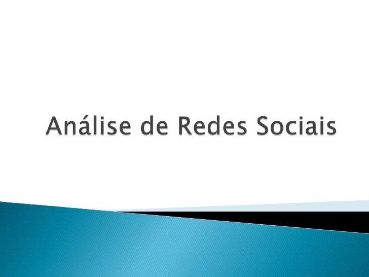 Análise de Redes Sociais<br />