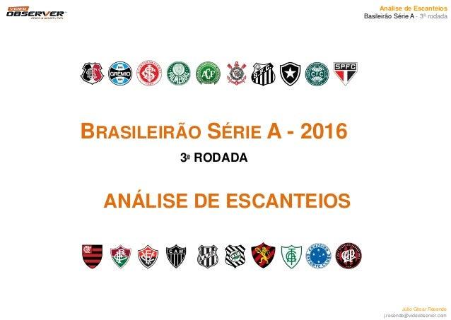 Análise de Escanteios Basileirão Série A - 3ª rodada Júlio César Resende j.resende@videobserver.com ANÁLISE DE ESCANTEIOS ...