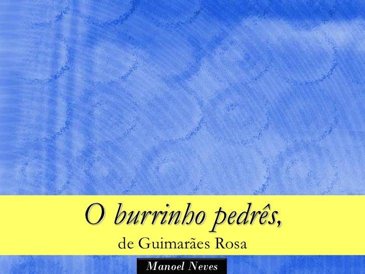 O burrinho pedrês,   de Guimarães Rosa      Manoel Neves