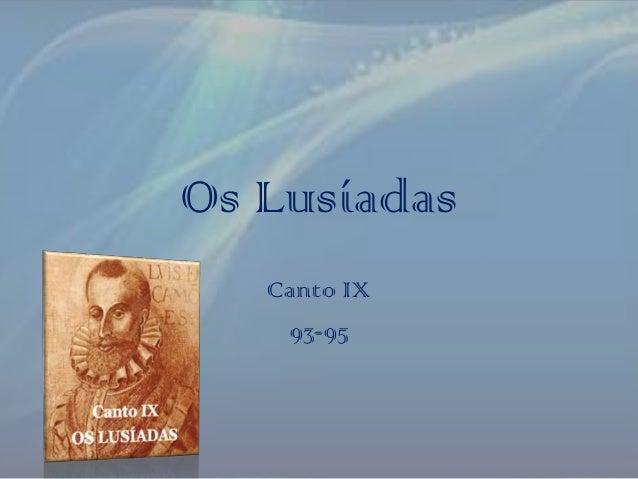 Os Lusíadas Canto IX 93-95