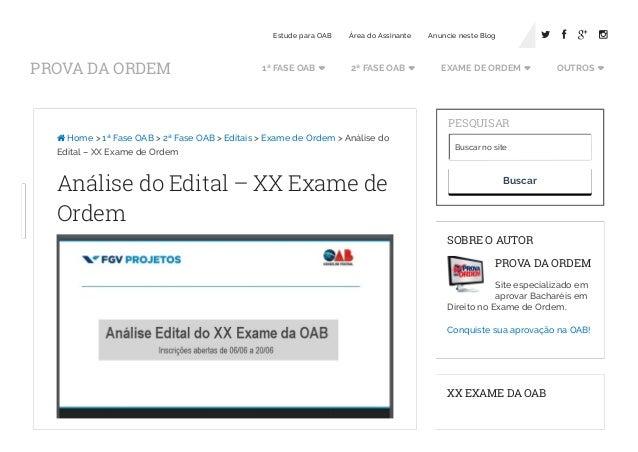 Site exame de ordem