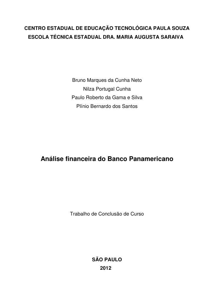 CENTRO ESTADUAL DE EDUCAÇÃO TECNOLÓGICA PAULA SOUZA ESCOLA TÉCNICA ESTADUAL DRA. MARIA AUGUSTA SARAIVA               Bruno...