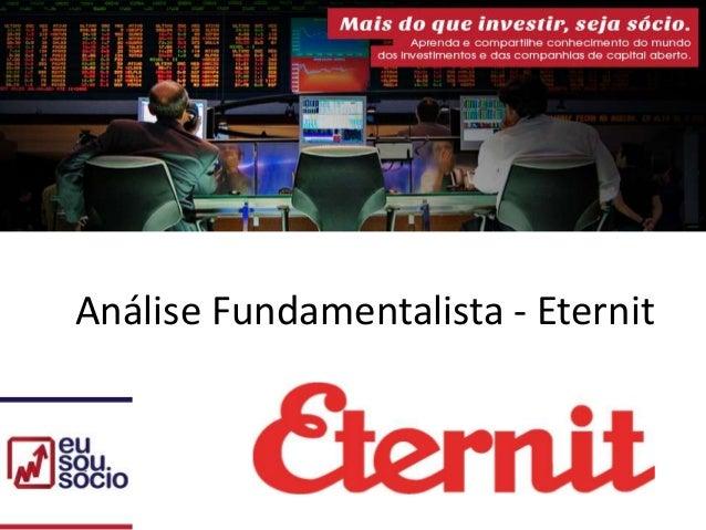 Análise Fundamentalista - Eternit