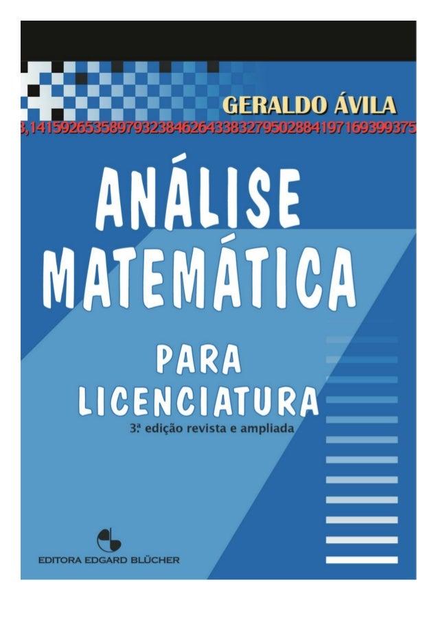 © 2001 Geraldo Severo de Souza Ávila 11l edição - 2001 É proibida a reprodução total ou parcial por quaisquer meios sem au...