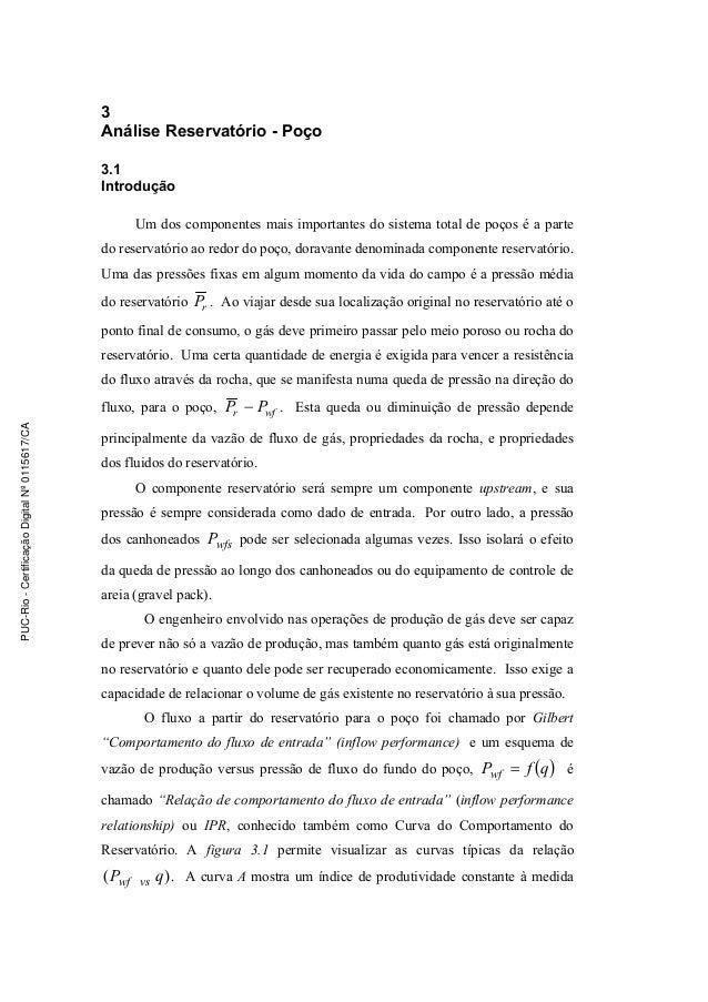 Análise Reservatório-Poço 53 3 Análise Reservatório - Poço 3.1 Introdução Um dos componentes mais importantes do sistema t...