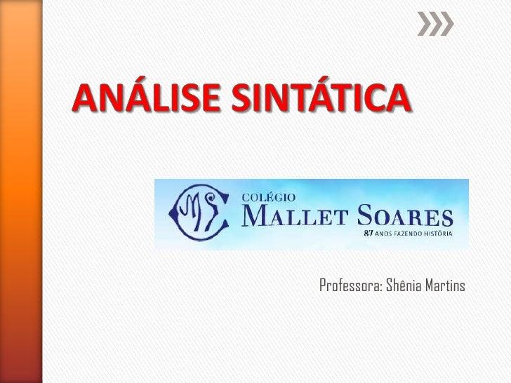 Professora: Shênia Martins