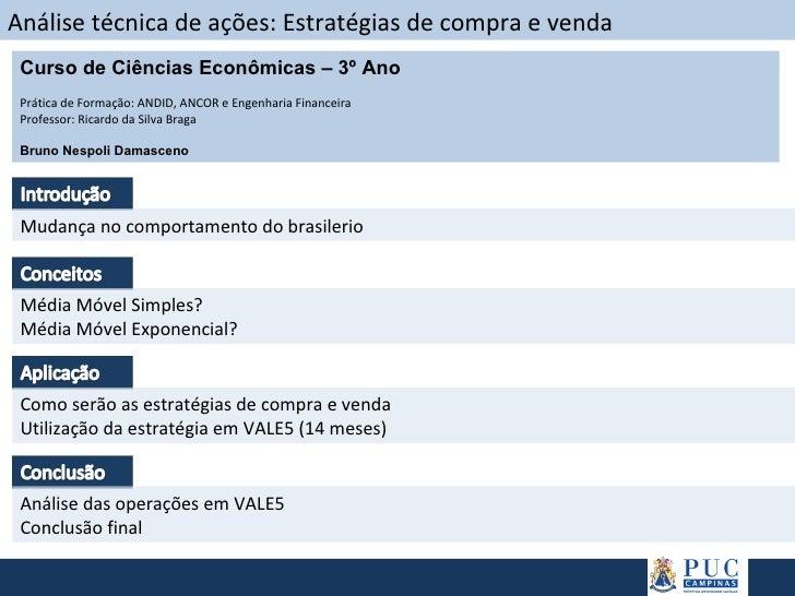 Análise técnica de ações: Estratégias de compra e venda Mudança no comportamento do brasilerio Média Móvel Simples? Média ...