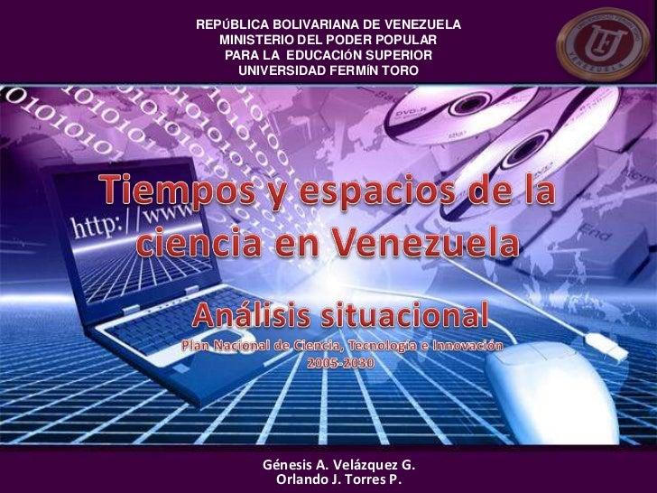 REPÚBLICA BOLIVARIANA DE VENEZUELA   MINISTERIO DEL PODER POPULAR   PARA LA EDUCACIÓN SUPERIOR     UNIVERSIDAD FERMÍN TORO...