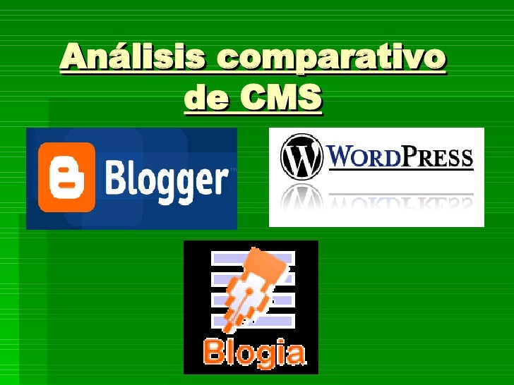 Análisis comparativo de CMS