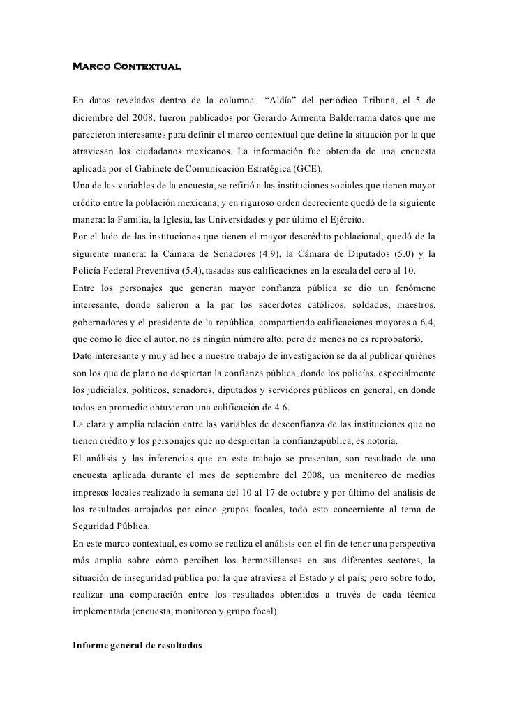 """Marco Contextual   En datos revelados dentro de la columna          """"Aldía"""" del periódico Tribuna, el 5 de diciembre del 2..."""